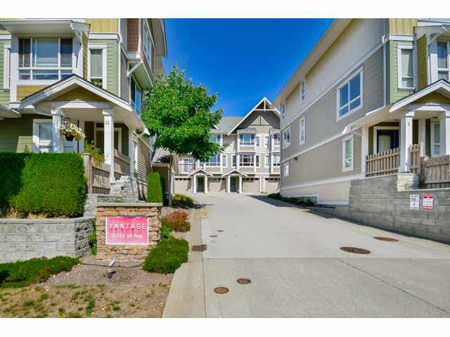 """Main Photo: 9 20159 68 Avenue in Langley: Willoughby Heights Townhouse for sale in """"VANTAGE"""" : MLS®# F1449062"""