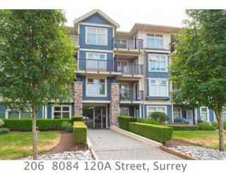 """Photo 1: 206 8084 120A Street in Surrey: Queen Mary Park Surrey Condo for sale in """"THE ECLIPSE"""" : MLS®# R2069146"""