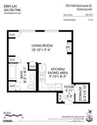 """Photo 19: 707 969 RICHARDS Street in Vancouver: Downtown VW Condo for sale in """"THE MONDRIAN"""" (Vancouver West)  : MLS®# R2599660"""