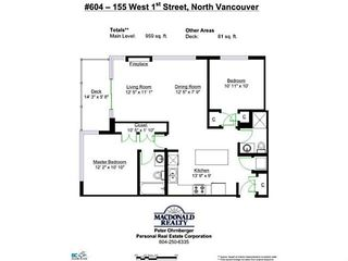 """Photo 14: 604 155 W 1ST Street in North Vancouver: Lower Lonsdale Condo for sale in """"Time"""" : MLS®# V1050173"""