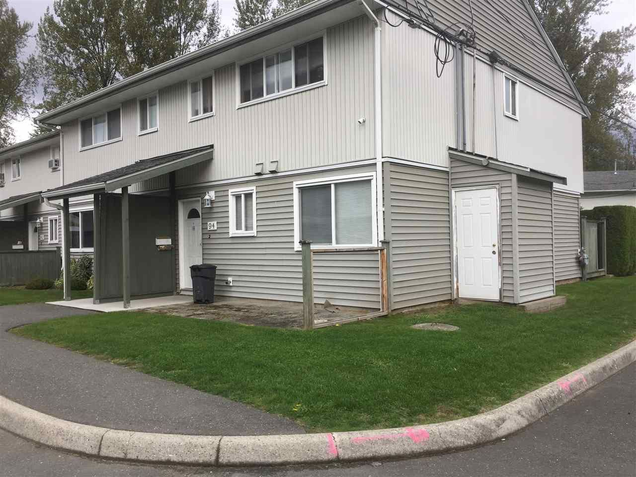 """Main Photo: 94 45185 WOLFE Road in Chilliwack: Chilliwack W Young-Well Townhouse for sale in """"TOWNSEND GREEN"""" : MLS®# R2507361"""
