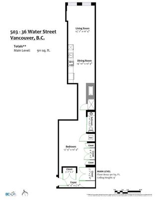 """Photo 19: 503 36 WATER Street in Vancouver: Downtown VW Condo for sale in """"TERMINUS"""" (Vancouver West)  : MLS®# R2597834"""