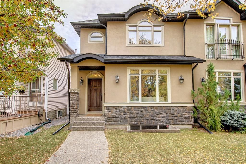 Main Photo: 816 15 Street NW in Calgary: Hillhurst Semi Detached for sale : MLS®# A1149944