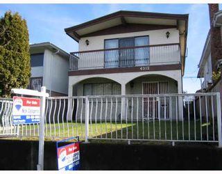 Photo 1: 4312 ONTARIO Street in Vancouver: Main House for sale (Vancouver East)  : MLS®# V803469