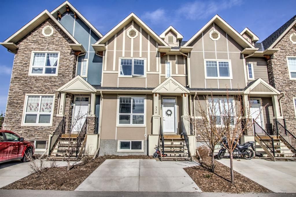 Main Photo: 336 Cranfield Common SE in Calgary: Cranston Row/Townhouse for sale : MLS®# A1096539