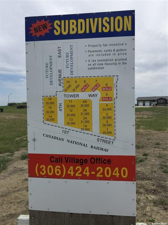 Main Photo: 136 Tower Way in Montmartre: Lot/Land for sale : MLS®# SK873783