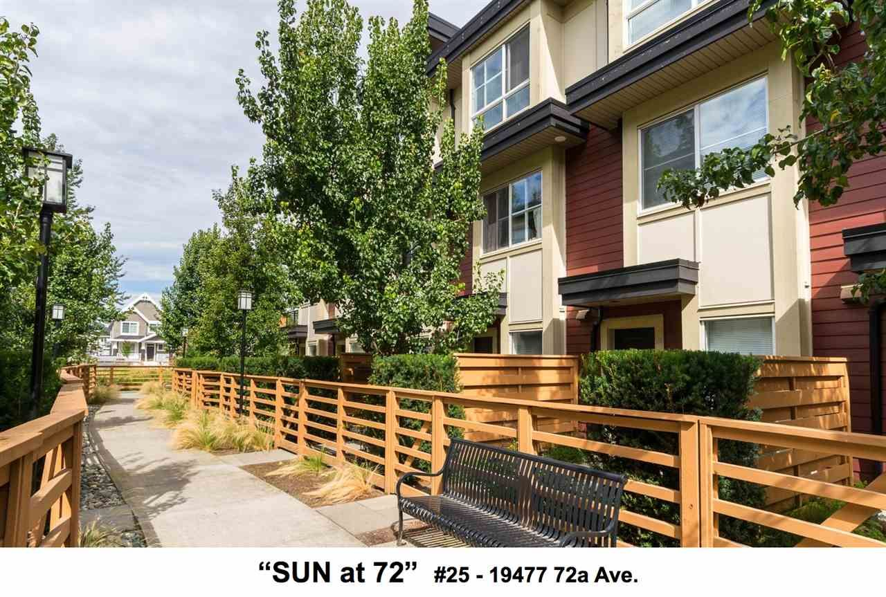 """Main Photo: 25 19477 72A Avenue in Surrey: Clayton Townhouse for sale in """"Sun at 72"""" (Cloverdale)  : MLS®# R2094312"""