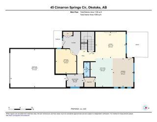 Photo 48: 45 Cimarron Springs Circle: Okotoks Detached for sale : MLS®# C4301374