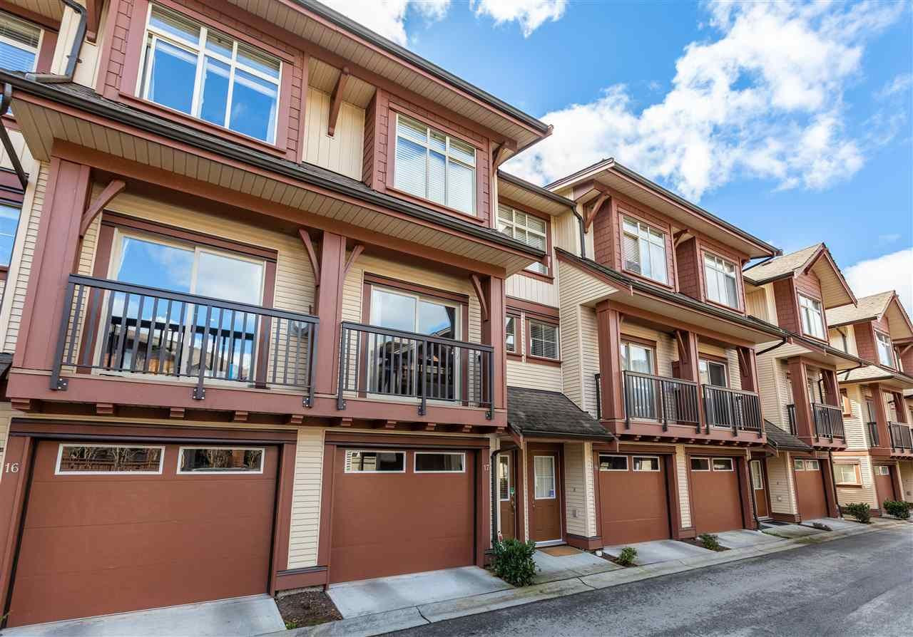 "Main Photo: 17 19478 65 Avenue in Surrey: Clayton Townhouse for sale in ""Sunset Grove"" (Cloverdale)  : MLS®# R2447134"