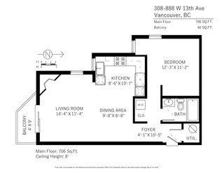"""Photo 20: 308 888 W 13TH Avenue in Vancouver: Fairview VW Condo for sale in """"CASABLANCA"""" (Vancouver West)  : MLS®# R2341512"""
