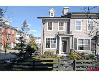 """Photo 1: 64 15075 60TH Avenue in Surrey: Sullivan Station Townhouse for sale in """"NATURE'S WALK"""" : MLS®# F2903783"""