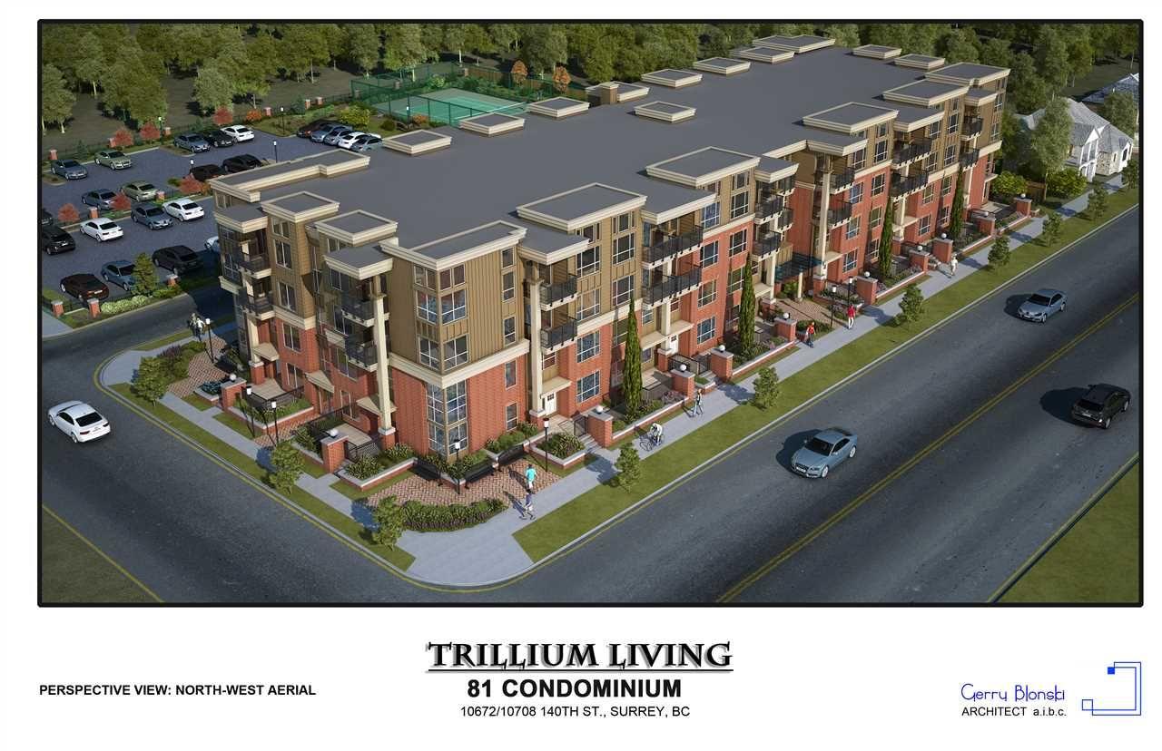"Main Photo: 407 10688 140 Street in Surrey: Whalley Condo for sale in ""TRILLIUM LIVING"" (North Surrey)  : MLS®# R2424943"