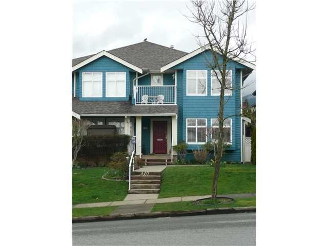 Main Photo: 340 W 14TH Street in North Vancouver: Central Lonsdale 1/2 Duplex for sale : MLS®# V880993