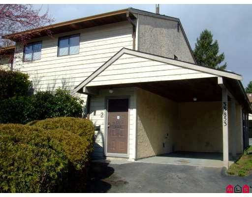 """Main Photo: 2 33853 MARSHALL Road in Abbotsford: Central Abbotsford Townhouse for sale in """"Apple Tree Court"""" : MLS®# F2706910"""