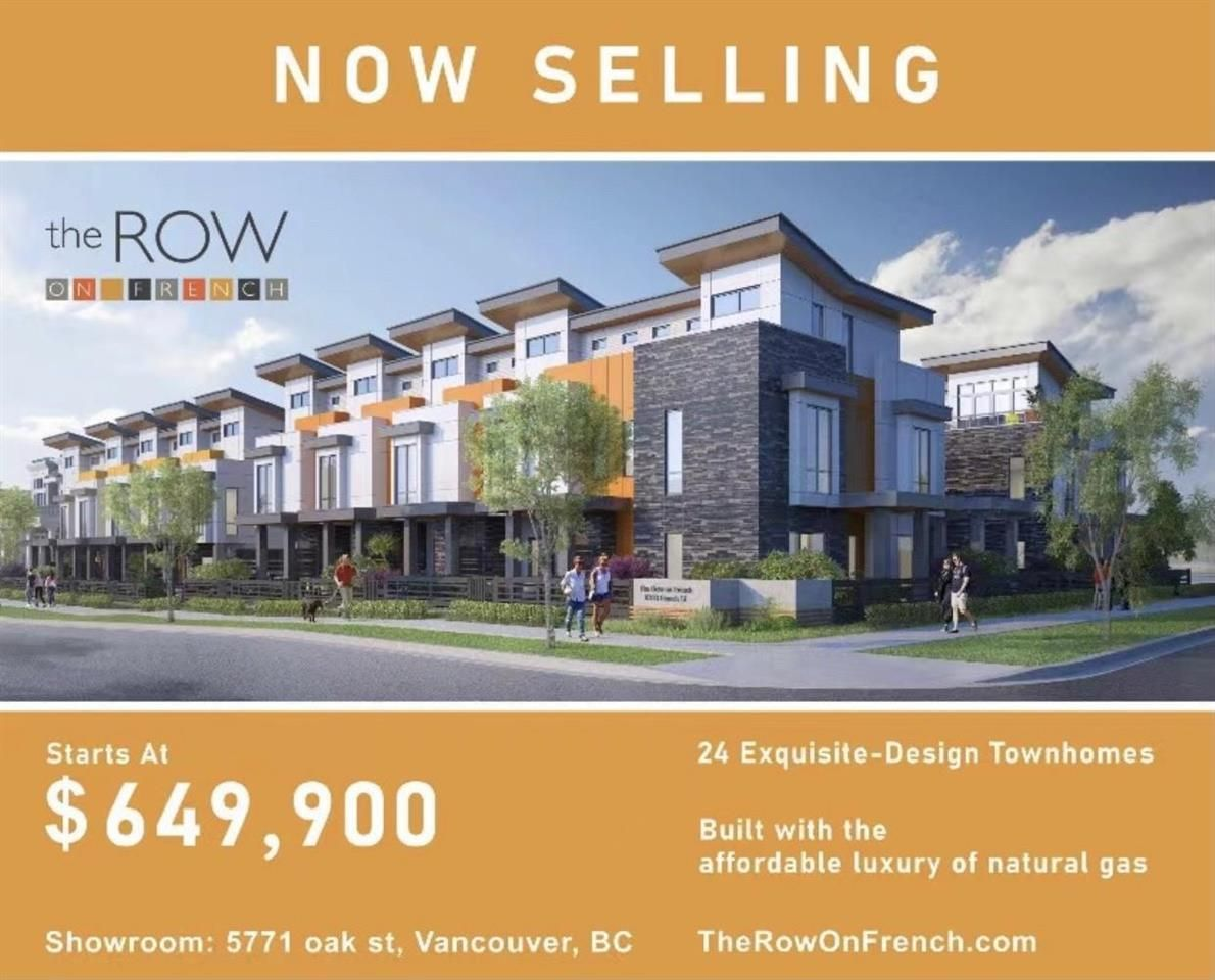 """Main Photo: SL 23 8333 FRENCH Street in Vancouver: Marpole Townhouse for sale in """"The Row on French"""" (Vancouver West)  : MLS®# R2572611"""