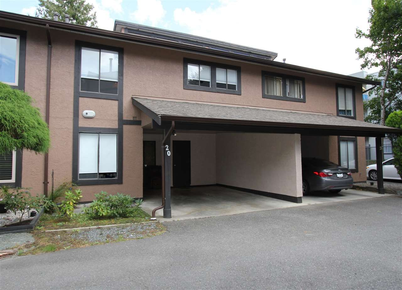 """Main Photo: 20 5840 VEDDER Road in Chilliwack: Vedder S Watson-Promontory Townhouse for sale in """"ROSEWOOD ESTATES"""" (Sardis)  : MLS®# R2493898"""