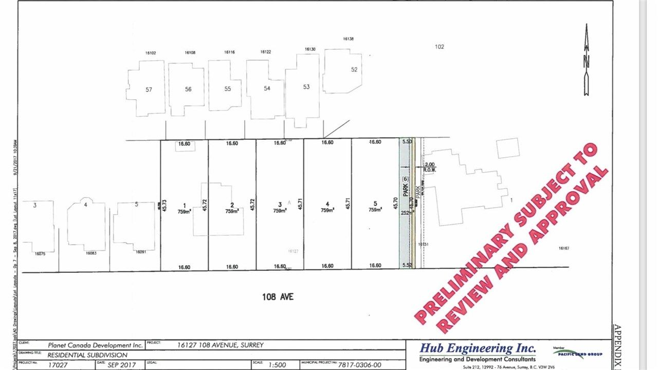 Main Photo: Lot #1 16127 108 Avenue in Surrey: Fraser Heights Land for sale (North Surrey)  : MLS®# R2540733