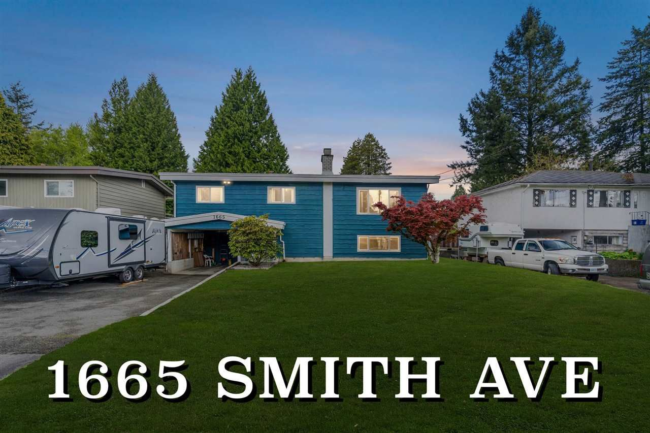 Main Photo: 1665 SMITH Avenue in Coquitlam: Central Coquitlam House for sale : MLS®# R2578794