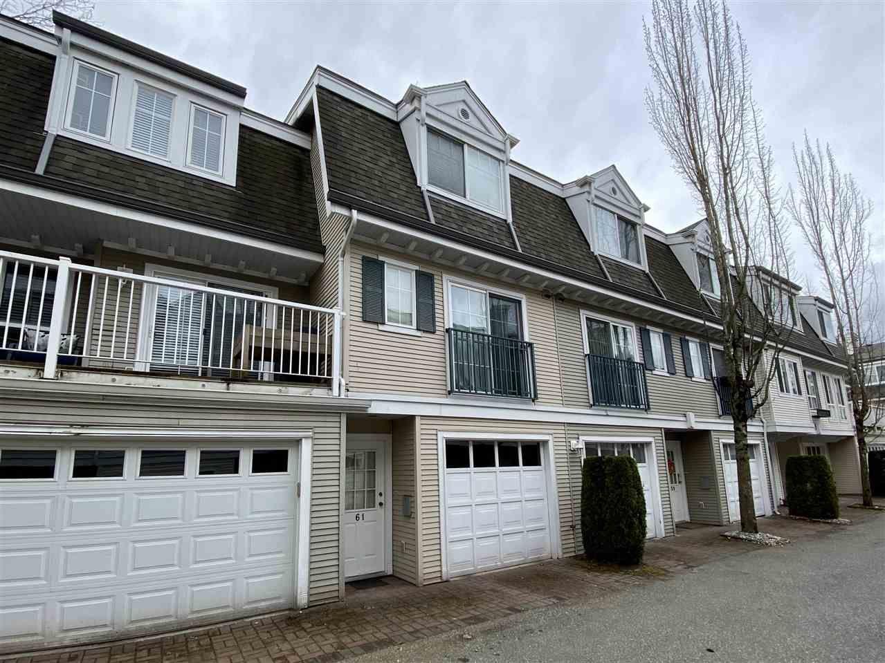 "Main Photo: 61 8930 WALNUT GROVE Drive in Langley: Walnut Grove Townhouse for sale in ""Highland Ridge"" : MLS®# R2554436"
